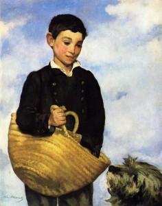 """""""Junge mit Hund"""" von Édouard Manet"""