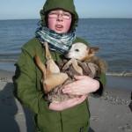 Lea und Norman Februar 2012 an der Nordsee